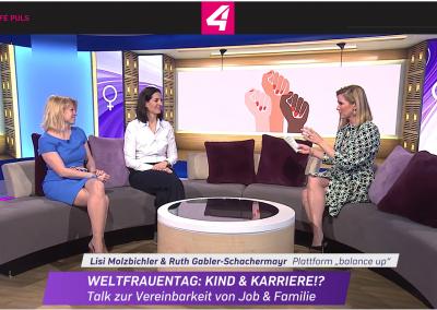 Puls 4 – Weltfrauentag: Kind & Karriere